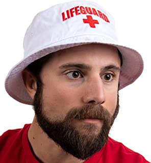 Lifeguard Bucket Hat | Professional Guard Red Sun Cap Men Women Costume Uniform
