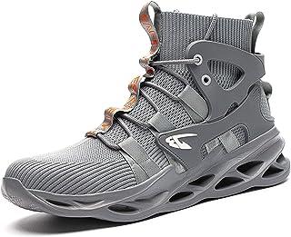 UCAYALI Zapatillas de Seguridad Ligero Transpirable Zapatos de Trabajo con Punta de Acero para Hombre Mujer Gr.36-48