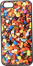 Graphics and More Polished Rocks Rock Tumbler Snap-On Hard Protective Case for iPhone 5/5s - Non-Retail Packaging - Black