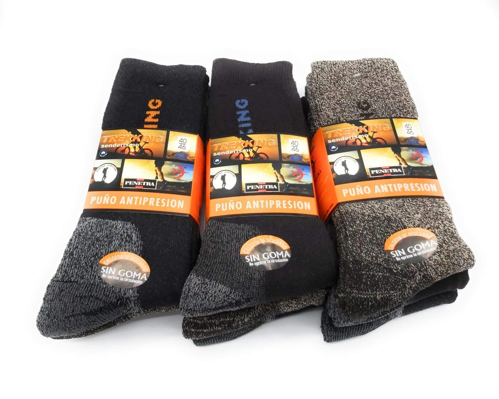PENETRA Calcetines Técnicos de Alta Transpiración Trekking Socks ...