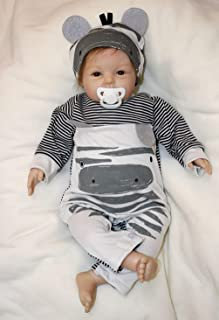 ZIYIUI Muñecas Reborn Bebe 22 Pulgadas Reborn Niño 55 cm