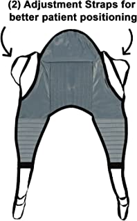 Padded U-Sling with Head Support, Universal Patient Lift Sling, Size Large, 600lb Capacity