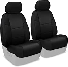 Coverking Custom Fit Front 50/50 Bucket Seat Cover for Select Ford Mustang Models - Spacermesh Solid (Black)