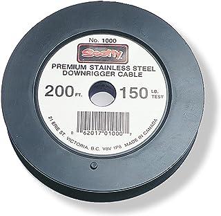 Scotty #1001 Premium Edelstahl Ersatz Downrigger Kabel, 90 m Spule