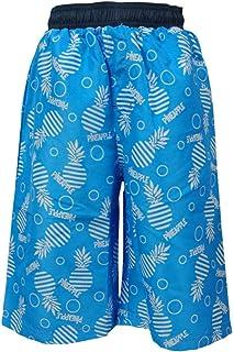 ピアニッシモ ボーイズジュニア 水着 男の子ジュニア サーフパンツ 海パン スイムパンツ パイン パイナップル柄 海水パンツ 水着 男児 サックス 140cm 150cm 160cm