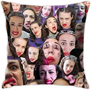 Mabel Sings Collage Square(45cmx45cm) Pillowcase Home Bed Room Interior Decoration