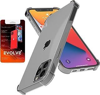 """EVOLVE iPhone 12 Pro max - 6.7"""" Case Clear Reinforced Edges TPU Bumper Anti-Scratch Shock Proof Cover"""