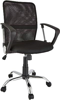 Office Essentials Mesh, Sedia Regolabile in Altezza con Controllo della Torsione, Colore Nero