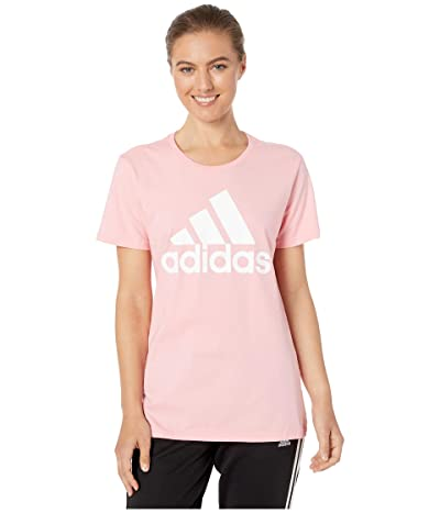 adidas Basic Badge of Sport Short Sleeve Tee (Glory Pink) Women