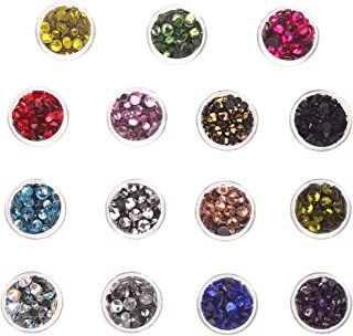 Heat Fix Rhinestones 3-6mm 7800PC 15 Colors Mixed Size Flatback Rhinestones HotFix Round Crystal for Clothes Shoes Crafts ...
