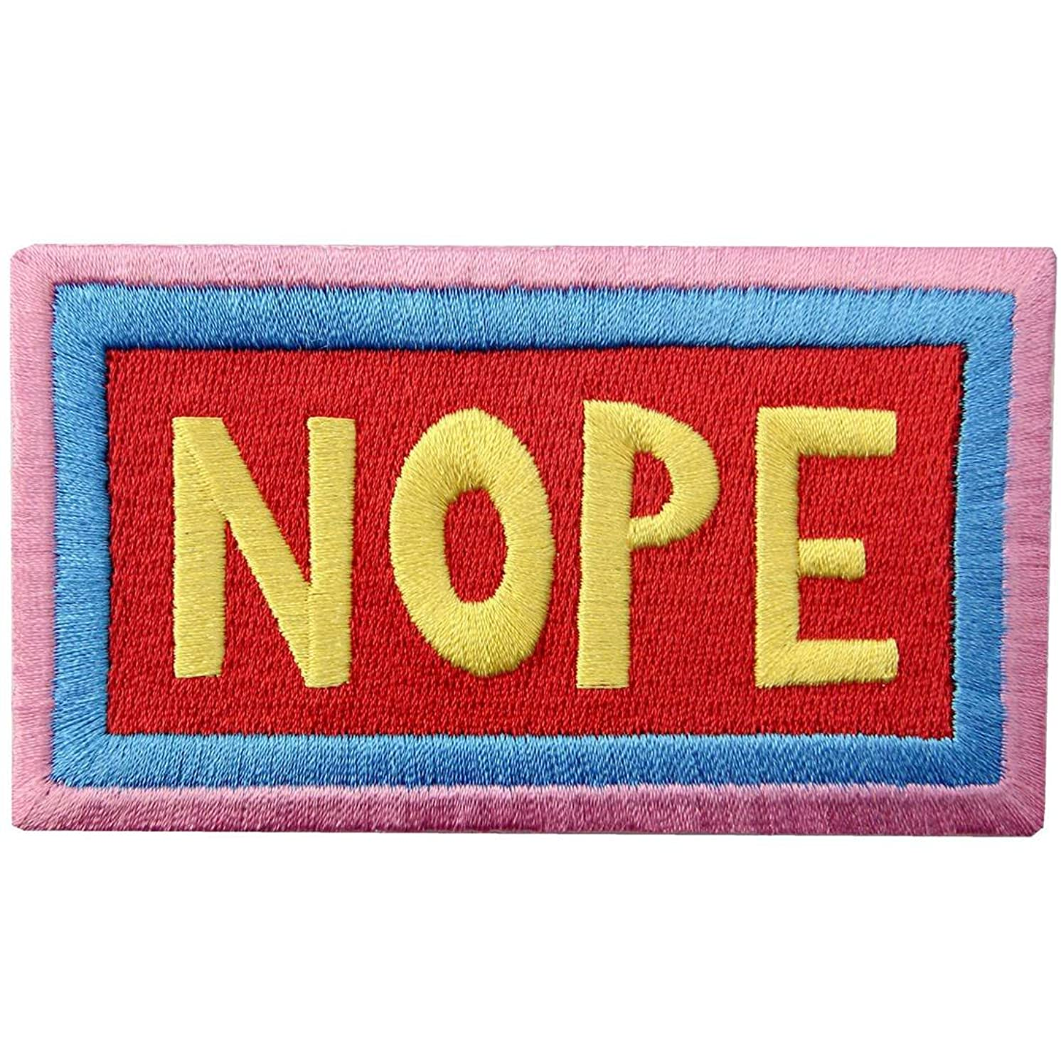 Nope Patch Embroidered Applique Iron On Sew On Emblem