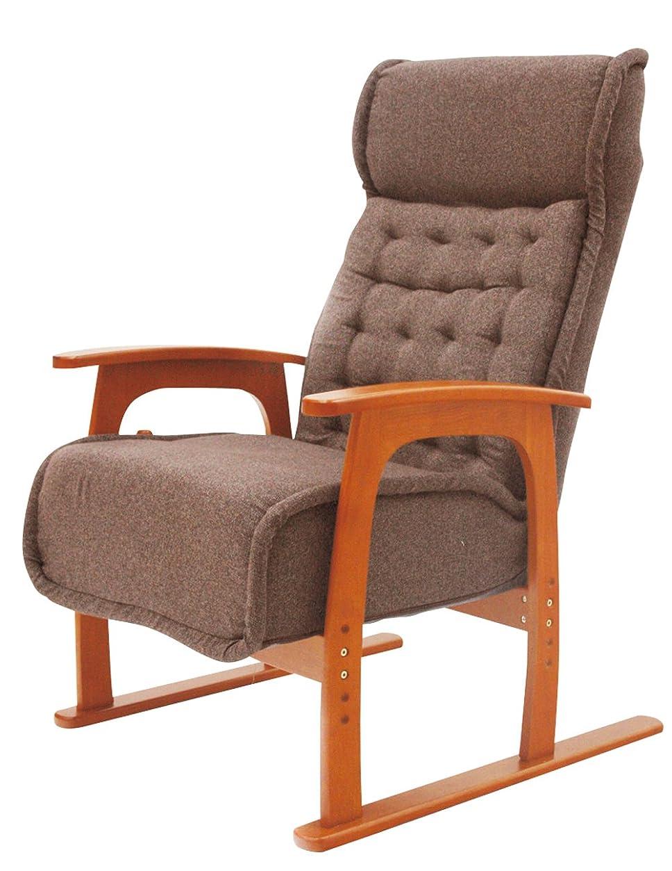 刺します眠り学校ヤマソロ 紅葉 コイルバネ高座椅子 83-805
