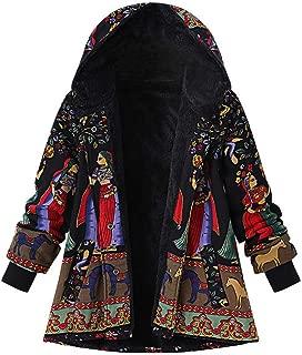 Womens Floral Coats Warm Floral Print Faux Plush Vintage Jackets Hooded Outerwear 2019 Mini Shirt Dress