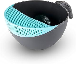 Dishwasher Safe Drain Mixing Container Art & Cook 5.3-Quart Soak & Strain Bowl