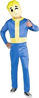 Vault Boy Halloween Costume for Men, Fallout Shelter, Standard, Includes Mask