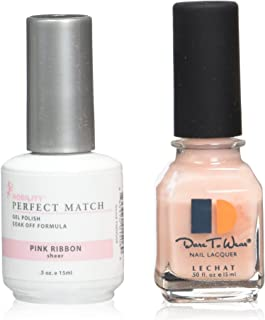 Le Chat Perfect Match Led-Uv Gel Polish Kits - Complete A-Z Collection, Pink Ribbon