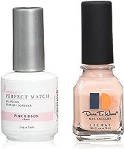 pink ribbon gel nails