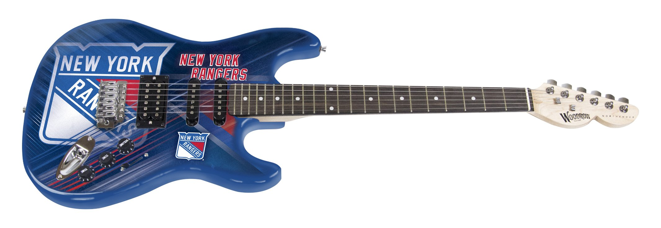 Cheap Woodrow Guitar by The Sports Vault NHL New York Rangers Northender Electric Guitar Black Friday & Cyber Monday 2019