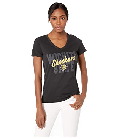 Champion College Wichita State Shockers University V-Neck Tee (Black) Women