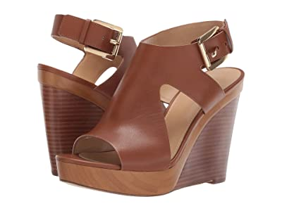 MICHAEL Michael Kors Josephine Wedge (Luggage Vachetta) Women