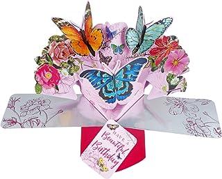 Second Nature POP131 - Tarjeta de felicitación con diseño de mariposas y cumpleaños