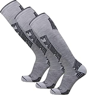 Ultra-Lightweight Compression Ski Socks - Merino Wool, Improve Circulation - Skiing, Snowboard Sock
