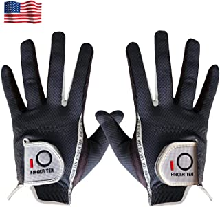 Amy Sport Golf Gloves Men Left Hand Right Rain Grip Pair Lh Rh Weathersof No Sweat, All Weather Grips Soft Comfortable Mens Glove Gray Green Size Small Medium Large XL