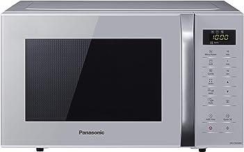 Panasonic NN-K36H - Microondas con Grill (800 W, 23 L, 5 Niveles de Potencia, Grill de Cuarzo de 1000 W, Plato Giratorio de 288 mm, Control Táctil, 11 Modos Automáticos, Bloqueo de Niños) Color Plata