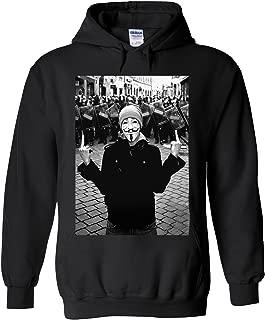 Anonymous Vendetta Protest Novelty Black Men Women Unisex Hooded Sweatshirt Hoodie