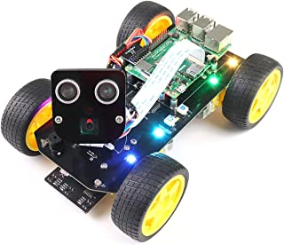 Freenove 4WD Smart Car Kit for Raspberry Pi 4 B 3 B+ B A+, Face Tracking, Line Tracking, Light Tracing, Obstacle Avoidance...