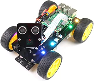 Freenove 4WD Smart Car Kit for Raspberry Pi 4 B 3 B+ B A+, Face Tracking, Line Tracking, Light Tracing, Obstacle Avoidanc...