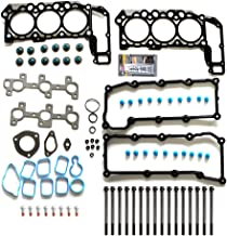 ECCPP Replacement for Cylinder Head Gasket Set Bolts FOR 2002-2005 Dodge Ram 2004-2005 Dodge Dakota Durang 1500 Jeep Liberty 2005 JeepGrand Cherokee 3.7L V6 SOHC VIN K