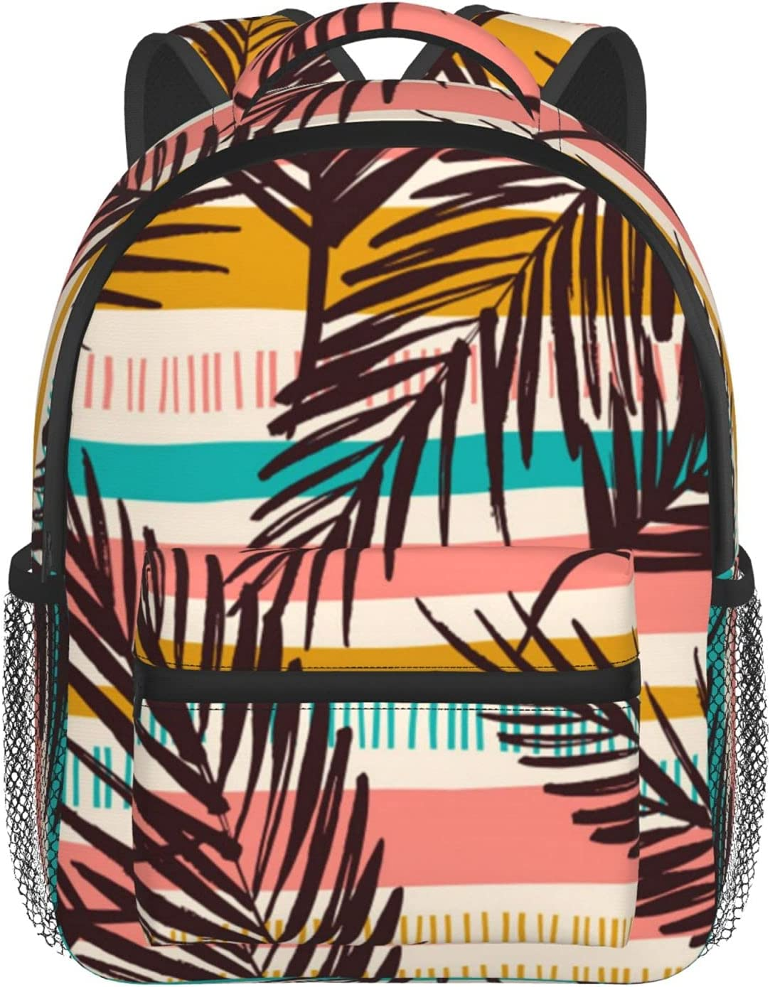 Abstract Seamless Pattern With Popular overseas Tropical Backpack Our shop most popular Leaves F School