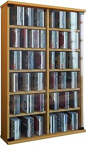 VCM Zuntisa Estante Mural para colección de CDs y DVDs, Haya, Haya, 91,5x60x18 cm