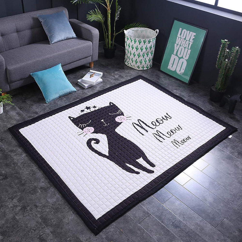 WJNSTNBL Kinder klettermatte _ Cartoon baumwollmatte matratze spielmatte Yoga Matte Kinder Wohnzimmer , cat Lady _150  200  1,5 cm