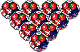 2Moda 30 Pack - Bulk Soccer Balls Size 5 in Multi-Country Print, Wholesale Case of 30 Balls