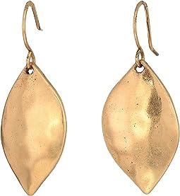 Single Petal Drop Earrings