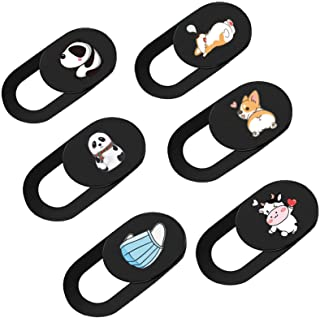 Webcam Cover Slide for Laptop, Cute 6 Pack 0.027in Ultra Thin Camera Blocker Protect Privacy Sliding Design for Computer/L...