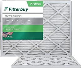 FilterBuy 14x18x1 Air Filter MERV 8, Pleated HVAC AC Furnace Filters (2-Pack, Silver)