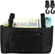 Stroller Organizer – Uiter Baby Stroller Storage Bag Drink Holder, Large Capacity Storage Bag Detachable Pocket for Baby Stroller with 2 Stroller Hooks