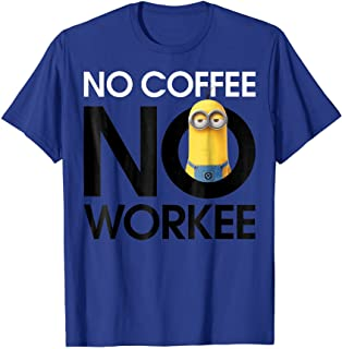 Despicable Me Minions No Coffee No Workee Graphic T-Shirt