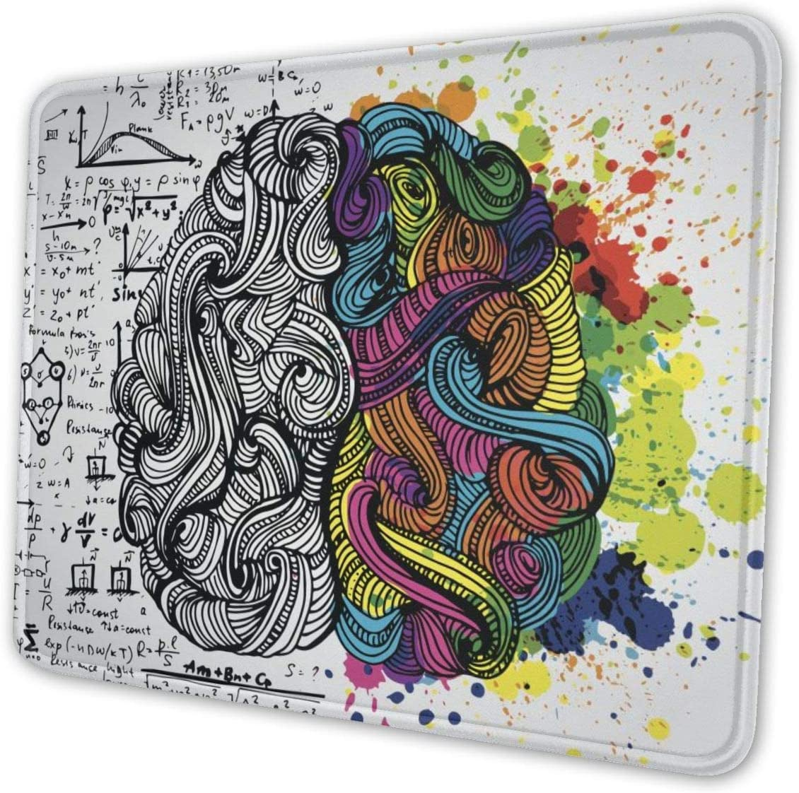 Left and Right Brain Mouse Pad with Stit…