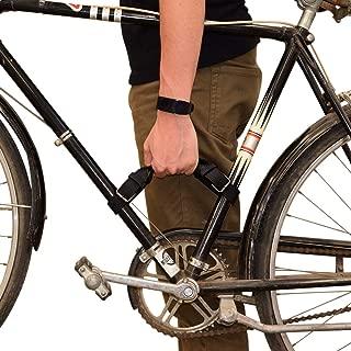Hide & Drink, Rustic Leather Bicycle Frame Handle (Bike Handle) Handmade Includes 101 Year Warranty :: Gato Negro