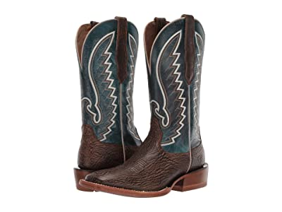 Ariat Station (Dry Whiskey/Mountain Blue) Cowboy Boots