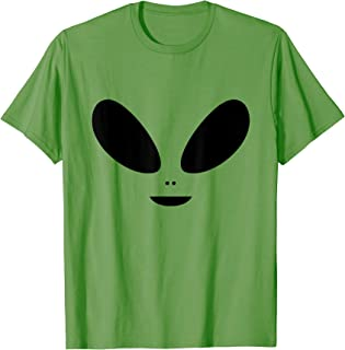 Alien Face Costume Extraterrestrial Halloween Lazy Easy T-Shirt