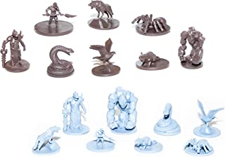 SMILING GM 40 Wild Creatures Unpainted Miniatures for Tabletop Roleplaying Games Ready to Play