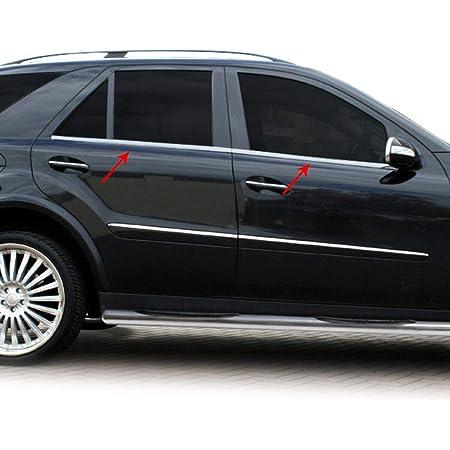FIT M-Class ML W164 Chrome Door Post B-Pillars 4Door 6Pieces Stainless Steel 2006-2011
