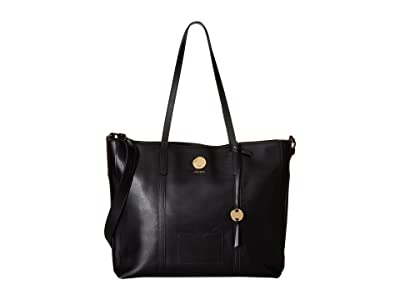 Lodis Accessories Laguna RFID Nelly Medium Tote (Black) Tote Handbags