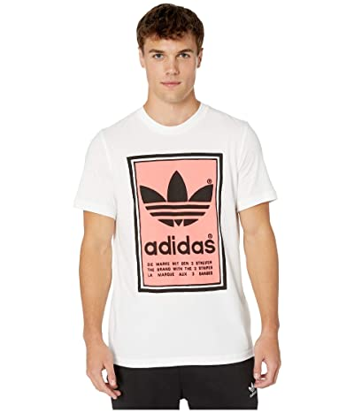 adidas Originals Filled Label Tee (White/Flash Red) Men