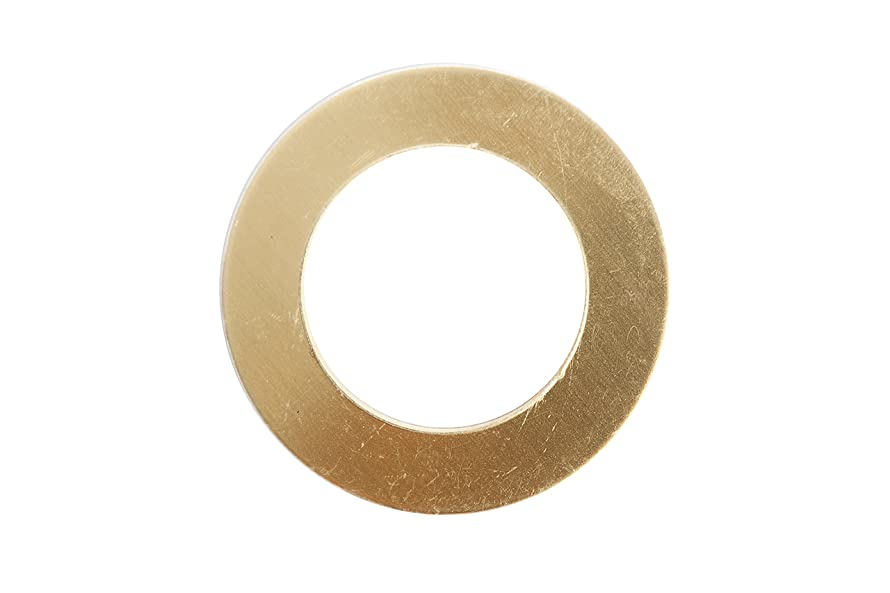 RMP Stamping Blanks, 1 Inch Washer with 5/8 Inch Center, Brass.020 Inch/24 Gauge - 20 Pack